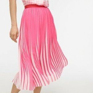 NWT J. Crew Dee Pleated Striped Midi Skirt 24